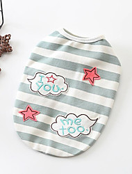 cheap -Dogs Sweatshirt Dog Clothes Striped Stars Green Pink Cotton Costume For Pets Women's Casual/Daily Adorable