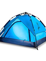 baratos -JUNGLEBOA® 4 pessoas Cabana de Praia / Tenda Automática / Barracas de Acampar Leves Dupla Camada Automático Dome Barraca de acampamento Ao ar livre Portátil, Prova-de-Água, Á Prova-de-Chuva para