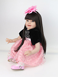 cheap -NPK DOLL Reborn Doll Baby 22inch Silicone / Vinyl - lifelike, Cute, Hand Made Kid's Gift