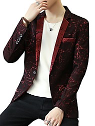cheap -Men's Business Plus Size Blazer - Print
