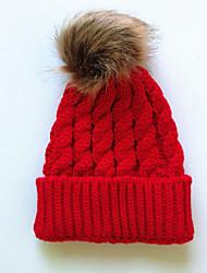 Недорогие -На каждый день Широкополая шляпа, Зима Осень Хлопок Красный Розовый Серый Светло-зеленый Винный
