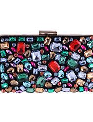 Недорогие -Мешки Полиэстер Вечерняя сумочка Кристаллы для Свадьба / Для праздника / вечеринки Цвет радуги