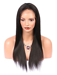 cheap -Virgin Human Hair Lace Front Wig Brazilian Hair With Baby Hair 130% Density Natural Hairline Long Women's Human Hair Lace Wig