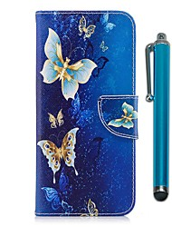 cheap -Case For LG K10 (2017) Card Holder Wallet with Stand Flip Magnetic Full Body Cases Butterfly Hard PU Leather for LG K10 (2017) LG K8 LG K7