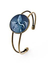 Недорогие -Все Браслет разомкнутое кольцо , металлический Милая Стекло Сплав Круглый Бижутерия Для вечеринок Бар Бижутерия Цвет радуги