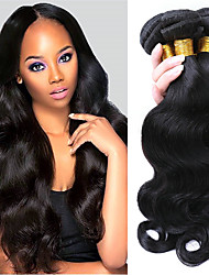 cheap -Brazilian Hair Body Wave Virgin Human Hair Natural Color Hair Weaves 3 Bundles Human Hair Weaves Natural Black Human Hair Extensions