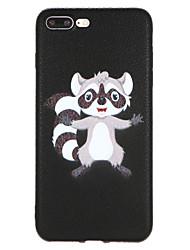 Capinha Para Apple iPhone X iPhone 8 Estampada Capa traseira Animal Rígida PU Leather para iPhone X iPhone 8 Plus iPhone 8 iPhone 7 Plus