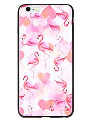 Capinha Para Apple iPhone X iPhone 8 Estampada Capa traseira Flamingo Rígida PU Leather para iPhone X iPhone 8 Plus iPhone 8 iPhone 7