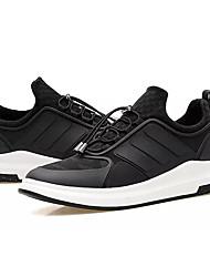 Muškarci Cipele PU Proljeće Jesen Udobne cipele Atletičarke tenisice Trčanje za Atletski Crn Crno/crvena