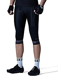 cheap -SANTIC Men's Cycling 3/4 Tights Bike Bottoms Solid Colored, Classic Black Bike Wear