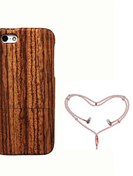 cheap -Case For Apple iPhone 5 Case Shockproof Back Cover Wood Grain Hard Bamboo for iPhone SE/5s