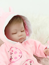 cheap -NPK DOLL Reborn Doll Baby Girl 18 inch Silicone / Vinyl - lifelike, Hand Applied Eyelashes, Tipped and Sealed Nails Kid's Girls' Gift