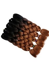 Недорогие -Волнистый переплетенный Африканские косички Градиент 5 предметов 5 шт. в упаковке Плетение Косы