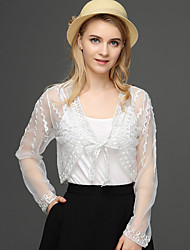 cheap -Women's Work Active Wrap - Solid Colored Lace Embroidered Jacquard Deep V