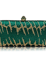 cheap -Women's Bags Metal Evening Bag Crystals for Wedding / Event / Party Green