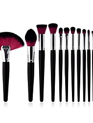 cheap -13pcs Professional Makeup Brushes Makeup Brush Set Natural Fiber / Synthetic Hair Full Coverage Beech Wood Fashion Boutique