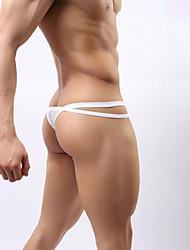 cheap -Men's Normal Stretchy Solid G-string Underwear Thin Translucent, Nylon Spandex 1pc White