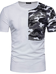 cheap -Men's Sports Cotton T-shirt - Camouflage Round Neck