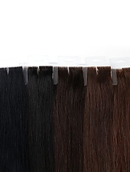 cheap -Tape In Human Hair Extensions Brazilian Hair Remy Human Hair Straight Women's Adults' 1pack Wedding Party Special Occasion Halloween