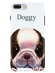 Capinha Para Apple iPhone X iPhone 8 IMD Estampada Capa traseira Cachorro Macia TPU para iPhone X iPhone 8 Plus iPhone 8 iPhone 7 Plus