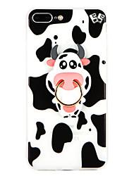 Capinha Para Apple iPhone 8 Plus iPhone 7 Plus Suporte para Alianças Capa traseira Animal Macia TPU para iPhone 8 Plus iPhone 7 Plus