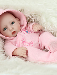 cheap -NPK DOLL Reborn Doll Baby Girl 12 inch Full Body Silicone / Silicone / Vinyl - lifelike, Hand Applied Eyelashes, Tipped and Sealed Nails Kid's Girls' Gift / CE Certified / Natural Skin Tone