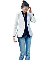 cheap -Women's Blazer - Solid Colored V Neck