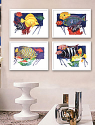 cheap -Landscape Animals Illustration Wall Art,Plastic Material With Frame For Home Decoration Frame Art Living Room