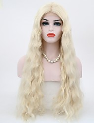 "cheap -Synthetic Lace Front Wig Natural Wave Blonde Lace Front Natural Wigs 27.6""(Approx.70cm) Synthetic Hair"