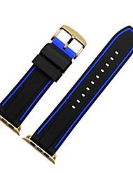 Недорогие -Ремешок для часов для Apple Watch Series 3 / 2 / 1 Apple Спортивный ремешок Современная застежка силиконовый Повязка на запястье