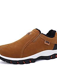 Недорогие -Муж. обувь Кашемир Зима Удобная обувь Спортивная обувь Для пешеходного туризма для на открытом воздухе Черный Серый Коричневый