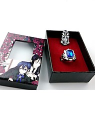 cheap -Jewelry Inspired by Black Butler Ciel Phantomhive Anime Cosplay Accessories 1 Ring 1 Brooch Resin Chrome