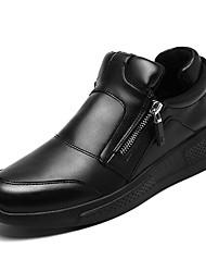 baratos -Homens sapatos Couro Ecológico Primavera / Outono Solados com Luzes Tênis Preto / Vermelho / Branco / Preto