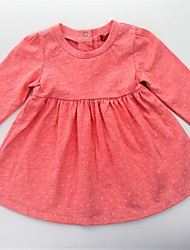 cheap -Girl's Daily Floral Dress, Cotton Spring Fall Long Sleeves Cute Active Orange