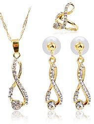 Недорогие -Жен. Комплект ювелирных изделий - Классический, Мода Включают Ожерелья с подвесками Золотой Назначение Подарок Повседневные