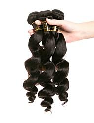 economico -4 pacchi Brasiliano Onda sciolta Capello vergine Ciocche a onde capelli veri Tessiture capelli umani Estensioni dei capelli umani
