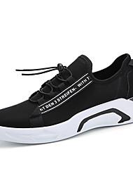 Homens sapatos Micofibra Sintética PU Primavera Outono Conforto Tênis Caminhada para Atlético Preto Vermelho Preto/Vermelho