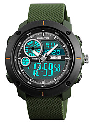cheap -SKMEI Men's Sport Watch / Fashion Watch / Military Watch Japanese Alarm / Calendar / date / day / Chronograph PU Band Casual / Fashion Black / Green / Grey / Water Resistant / Water Proof / Stopwatch