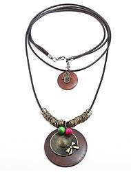 Недорогие -Жен. Слоистые ожерелья  -  Мультяшная тематика, Массивный Коричневый Ожерелье 1 Назначение Праздники, Новый год
