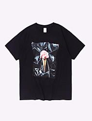 cheap -men's business cotton t-shirt - letter