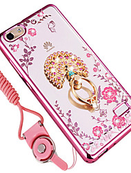 cheap -Case For Huawei Honor 6C Pro Shockproof Rhinestone Ring Holder Back Cover Flower Soft TPU for Huawei Honor 4C