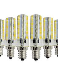 Недорогие -YWXLIGHT® 6шт 7W 600-700lm E14 Двухштырьковые LED лампы T 152 Светодиодные бусины SMD 3014 Диммируемая Декоративная Тёплый белый Холодный