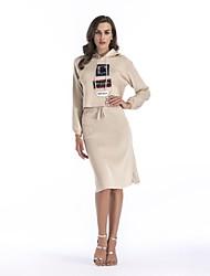 cheap -Women's Short Sweater - Letter, Print Skirt