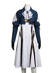 baratos -Inspirado por Violet Evergarden Violet Evergarden Zeppeli Anime Fantasias de Cosplay Ternos de Cosplay Vestidos Outro Manga Longa