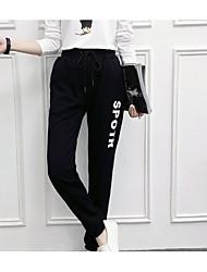 economico -pantaloni chino micro elasticizzati da donna di media altezza, a maniche corte in poliestere a lettera semplice
