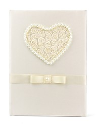 abordables -Satin Romance Fantastique MariageWithNoeud(s) 1 Boîte d'Emballage Livre d'or