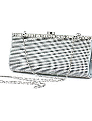 cheap -Women's Bags Glasses Metal Evening Bag Beading Appliques Crystal Detailing for Wedding Event/Party All Seasons Silver