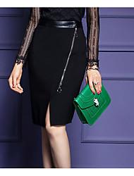 preiswerte -Damen Übergrössen Bodycon Röcke - Solide