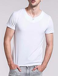 Herre - Ensfarvet T-shirt