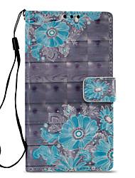 Недорогие -Кейс для Назначение Sony Xperia L2 Xperia XZ2 Бумажник для карт Кошелек со стендом Флип С узором Чехол Цветы Твердый Кожа PU для Xperia